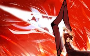 Картинка меч, парень, персонаж, Shaman king, Король шаманов