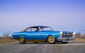 Картинка Ford, Blue, 1967, 427, Fairlane, American muscle car