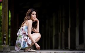 Картинка взгляд, милая, волосы, азиатка