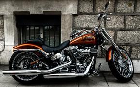 Картинка Harley Davidson, Custom, Motorcycle