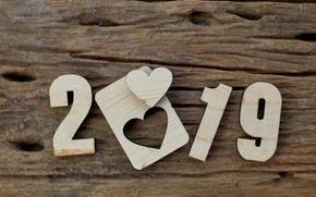 Картинка фон, дерево, доски, heart, wood, texture, background, wooden, 2019