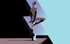 Картинка Минимализм, Фон, Женщина-кошка, Art, Женщина кошка, Comics, DC Comics, Catwoman, Selina Kyle, Селина Кайл, Craig …