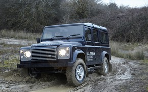Картинка прототип, Land Rover, грунт, Defender, 2013, All-terrain Electric Research Vehicle