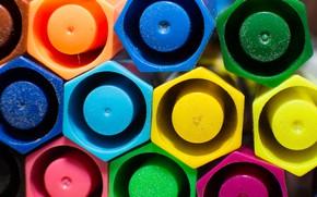 Картинка макро, цвет, геометрия, фигуры, улей, фломастеры
