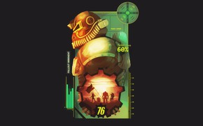 Картинка Шлем, Fallout, Bethesda Softworks, Bethesda, Братство, Bethesda Game Studios, Brotherhood of Steel, Fallout 76, Братство …