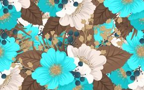 Картинка цветы, абстракция, фон, винтаж