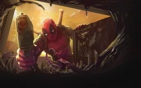 Картинка Рисунок, Язык, Зубы, Арт, Art, Deadpool, Marvel, Дэдпул, Comics, MARVEL, Веном, Venom, Симбиот, Creatures, MARVEL …