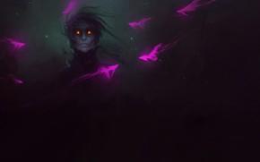 Картинка Fish, Art, Neon, Illustration, Demon, Characters, Environments, by SEPHIROTH, Neon Fish, SEPHIROTH