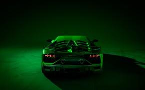 Картинка Lamborghini, суперкар, вид сзади, 2018, Aventador, SVJ, Aventador SVJ