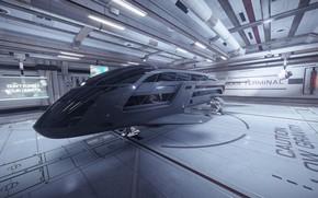 Картинка космический корабль, бункер, Elite: Dangerous