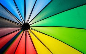 Обои фон, цвет, радуга, colors, зонт, colorful, rainbow, umbrella, background