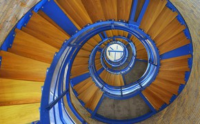 Картинка маяк, Германия, лестница, остров Фемарн