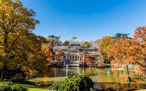 Картинка Испания, Мадрид, зимний сад, парк Буэн-Ретиро, Хрустальный Дворец, Palacio de Cristal