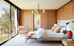 Картинка комната, интерьер, спальня