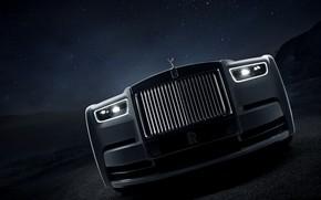 Картинка ночь, Rolls-Royce, Phantom, решётка, 2019, Tranquillity