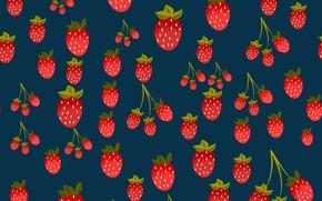 Обои ягоды, фон, текстура, клубника, background, pattern, Strawberries