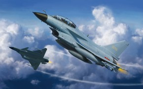 Картинка Китай, ВВС КНР, Боевой самолёт, J-10S