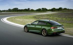 Картинка Audi, скорость, трек, RS 5, 2020, RS5 Sportback