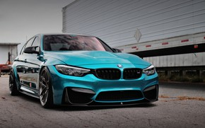 Картинка BMW, Blue, Predator, F80, Sight, Adaptive LED