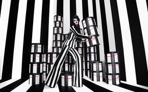 Картинка коробка, модель, костюм, брюки