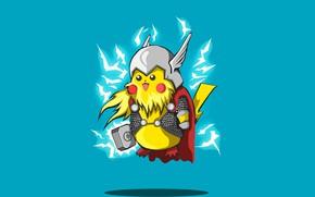 Картинка фон, минимализм, Покемон, косплей, Pokemon