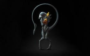 Картинка Минимализм, Улыбка, Чужой, Фон, Oscar, Alien, Оскар, Xenomorph, Премия, by Sergey Kruglov, And the Oscar …