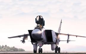 Картинка Истребитель, MiG, МиГ, ВВС, Перехватчик, ВВС России, Foxhound, МиГ-31, ОКБ МиГ, MiG-31, Alexander Iartsev, by …