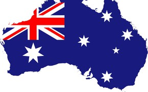 Картинка флаг, австралия, fon, flag, australia, границы, cuistom