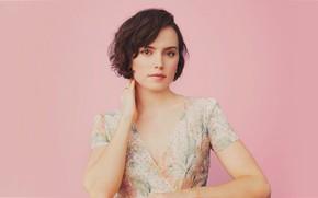 Картинка взгляд, девушка, лицо, фото, портрет, блузка, Daisy Ridley