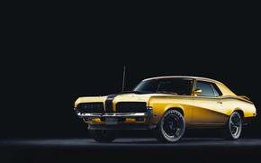 Картинка Авто, Машина, Car, Art, Render, Cougar, Design, 1970, Retro, Mercury, Mercury Cougar, Transport & Vehicles, …