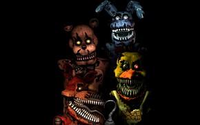 Картинка игра, четыре, Five Nights at Freddy's, механические куклы