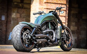 Картинка Harley-Davidson, Custom, Thunderbike, VRSC, Green Poison