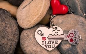 Картинка любовь, сердце, ключ, red, love, брелок, heart, key, romantic, I love You