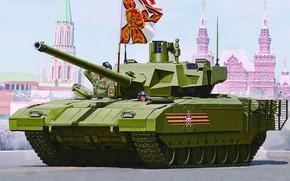 Обои парад, красная площадь, Объект 148, Армата, Т-14, проект новейшего российского основного танка