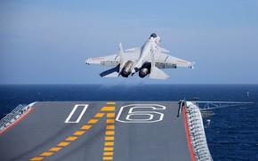 Картинка Истребитель, Авианосец, ВМС КНР, Shenyang J-15