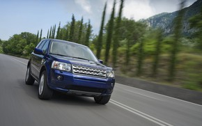 Картинка синий, Land Rover, 2011, кроссовер, Freelander, SUV, Freelander 2, LR2, i6 HSE
