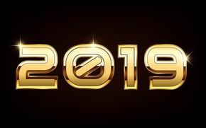 Картинка цифры, Новый год, 2019