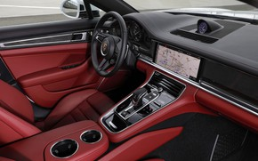 Картинка интерьер, Porsche, Panamera, 2021, Panamera 4S E-Hybrid