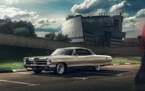 Картинка Ретро, Машина, Pontiac, Bonneville, Mikhail Sharov, Transport & Vehicles, by Mikhail Sharov, Pontiac Bonneville 1965, ...