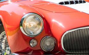 Картинка Maserati, Фары, Classic, Хром, 1956, Classic car, Maserati A6G/2000 Gran Sport Spyder