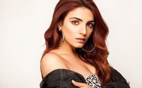 Картинка girl, eyes, smile, beautiful, model, beauty, lips, face, hair, pose, indian, makeup, Sukriti kakar