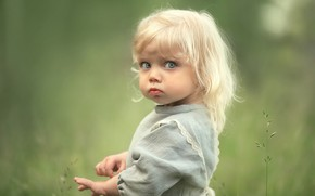 Картинка blonde, pose, little girl