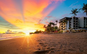 Картинка песок, пляж, солнце, лучи, Тайланд, Паттайя