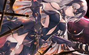 Картинка fate/grand order, jeanne d'arc, jeanne d'arc alter, kana616, fate series