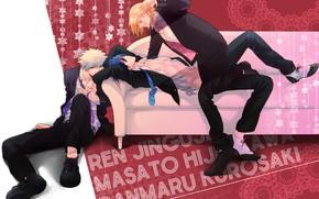 Картинка диван, парни, Uta No prince-sama, Поющий принц