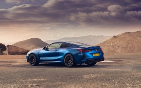 Картинка BMW, вид сзади, Coupe, Competition, UK-Spec, 2019, BMW M8, F92