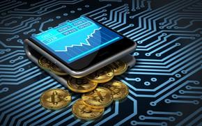 Картинка смартфон, smartphone, bitcoin, биткоин, btc