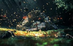 Картинка природа, камни, крест, by K&P
