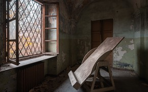Картинка дом, окно, молберт