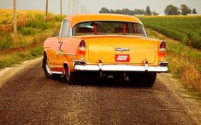 Картинка Chevrolet, Orange, Hot Rod, Bel Air, Custom, Modified, Super Chevy